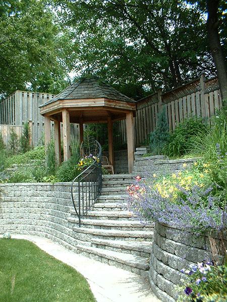 Tiered garden skai leja landscape designer garden for Tiered garden designs